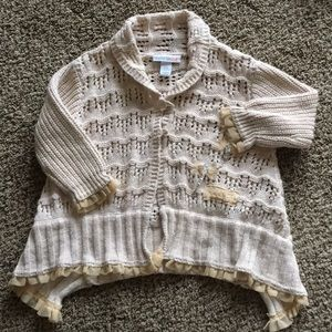 Infant sweater with dragonflies